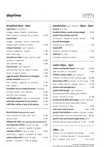 parlez menu daytime